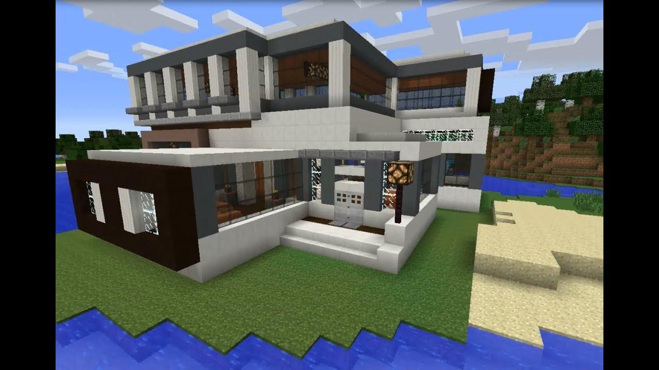 Minecraft 1 7 2 casa moderna modern house youtube for Casa moderna 1 8