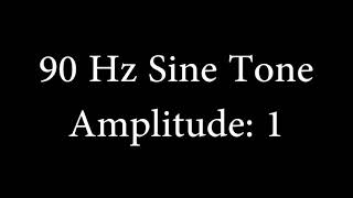 90 Hz Sine Tone Amplitude 1