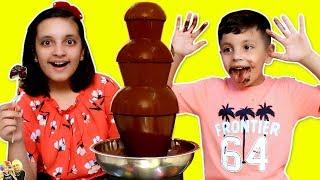 CHOCOLATE FOUNTAIN CHALLENGE | Eating Challenge #FONDUE #Funny #Kids | Aayu and Pihu Show