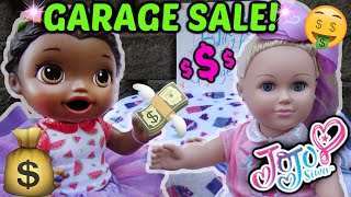 BABY ALIVE has a GARAGE SALE! JOJO SIWA and ELSA! The Lilly and Mommy Show! FUNNY KIDS SKIT!