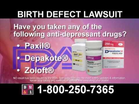 Paxil, Depakote, and Zoloft Birth Injuries