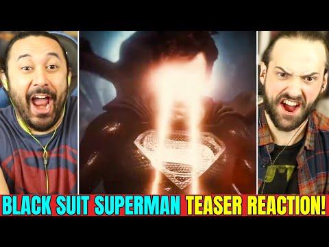 Snyder Cut   BLACK SUIT SUPERMAN TRAILER TEASER   REACTION!! (Justice League   DCEU)