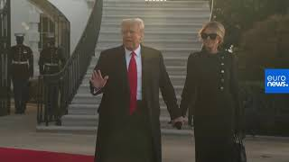 Donald Trump leaves the White House for the last time