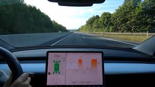 Tesla Model 3 0-264km/h (164mph) (without background music)