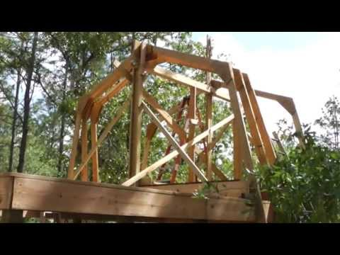 Raising Homemade Gambrel Barn Trusses By Yourself No