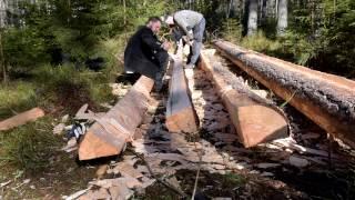 Medeltida träklyvning – ett försök att återskapa hantverkskunskap, 22 minuter.