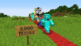 I Made 100 Kids Run 10,000 Blocks