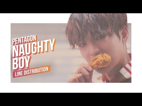 PENTAGON - Naughty Boy Line Distribution (Color Coded) | 펜타곤 - 청개구리