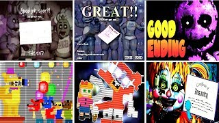 Five Nights at Freddy's 6 All Endings FNAF 1 2 3 4 5
