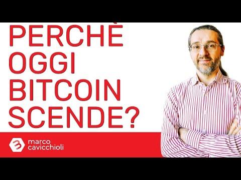 Perchè bitcoin scende oggi?