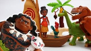Moana & Maui The Secret of Mystic Island~! Protect Hei Hei and Pua