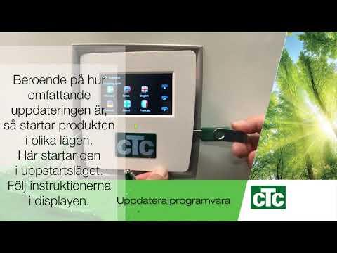 Uppdatera programvaran på CTC GSi, CTC EcoZenith eller CTC EcoHea