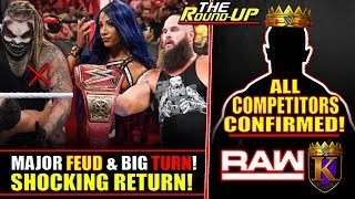 SHOCKING TURN DURING WWE RAW! Sasha Banks RETURNS, All King Of The Ring COMPETITORS - The Round Up