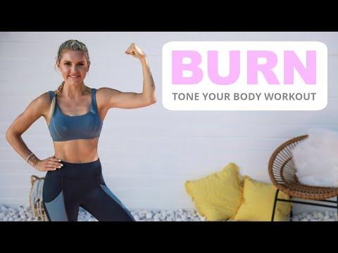 Burn Workout - TONE YOUR BODY   Rebecca Louise