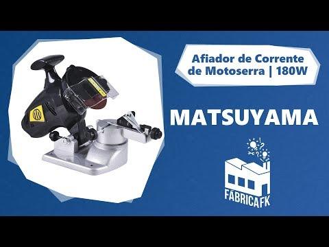 Afiador de Corrente de Motoserra 180W 292265 Matsuyama -220V - Vídeo explicativo