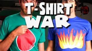 T-SHIRT WAR!! (stop-motion) - Rhett & Link