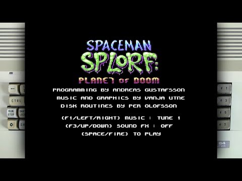 Spaceman Splorf on the Commodore 64