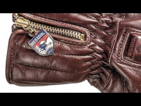 Hestra Ski Gloves Hestra Leather Swisswool Classic Ski Gloves in Brown