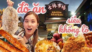 Ăn sập những món SIÊU TO KHỔNG LỒ ở chợ đêm nổi tiếng Đài Loan | Chi Sally