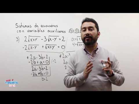 Sistemas de ecuaciones con variables auxiliares 3