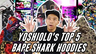 #HYPEMANIA   YOSHIOLO's TOP 5 Bape Shark Hoodies! (WORTH 30 JUTA RUPIAH!!!)