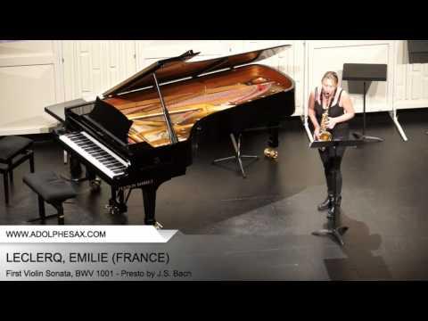 Dinant 2014 - Leclercq, Emilie - First Violin Sonata, BWV 1001 - Presto by J.S. Bach