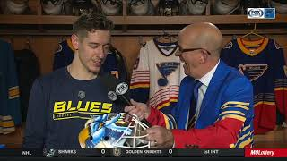 """Binnington: It was """"pretty special"""" to pay tribute to CuJo with a shutout"""