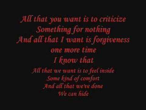Disturbed - just stop - lyrics