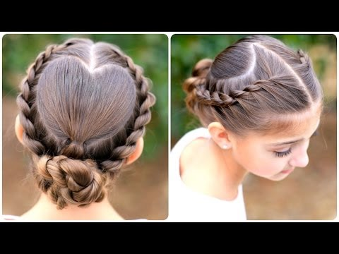 Rope Twisted Heart | Cute Girls Hairstyles - YouTube