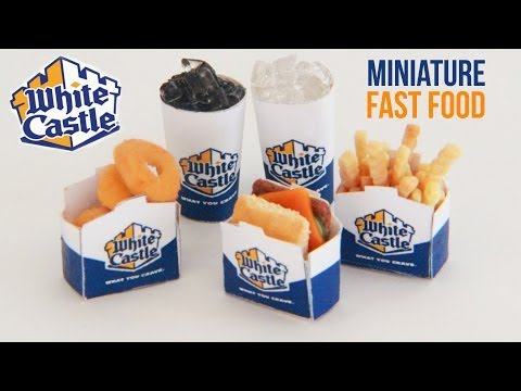 White Castle : How To Make Miniature Fast Food : Polymer Clay : Onions Rings, Sliders, Fries, Coke - Smashpipe Style