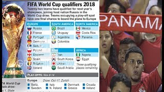 Who made it, who will miss out 2018 World Cup