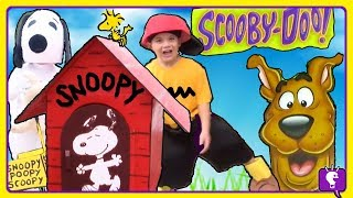 SCOOBY DOO SECRET ADVENTURE HUNT! Snoopy and Charlie Brown with HobbyKids