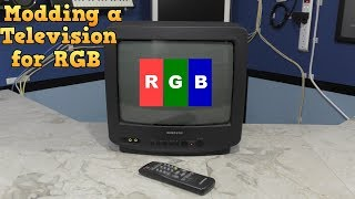 Modding a consumer TV to use RGB input