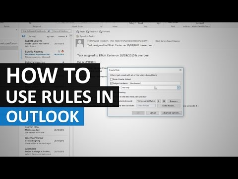 Using rules to organise your inbox in Outlook