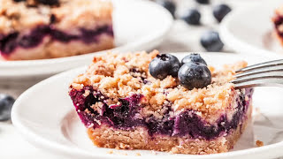 Blueberry Pie Crumb Bars