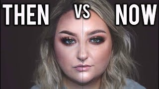 COMPARING MY MAKEUP THEN vs MY MAKEUP NOW