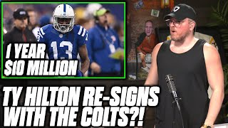 Pat McAfee Reacts To TY Hilton Re signing With The Colts
