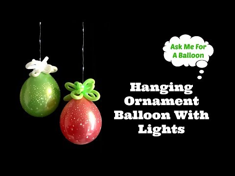 Hanging Ornament Balloon With Lights - Balloons Online