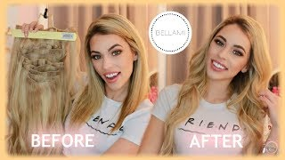HOW TO BLEND & STYLE BELLAMI CLIP IN HAIR EXTENSIONS!