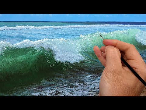 How to paint a crashing wave  | Time lapse | Episode 192