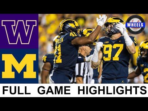Washington vs Michigan Highlights | College Football Week 2 | 2021 College Football Highlights