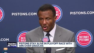 Pistons keep playoff hopes alive with win over Grizzlies