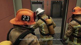 Grand Theft Auto V - The Bureau Raid - Fire Crew - YouTube