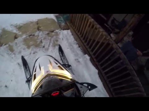 Snowmobiling to School – January 8,2016 – GOPRO