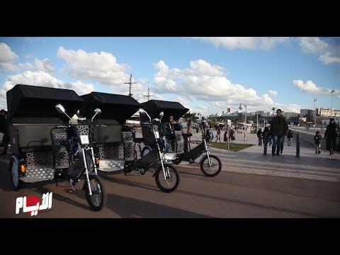 دراجات هوائية إيكولوجية تجول شوارع الرباط لمن يريد التنزه