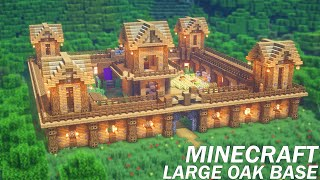 Minecraft: Large Oak Survival Base Tutorial | How to Build a Survival Base in Minecraft (EASY)