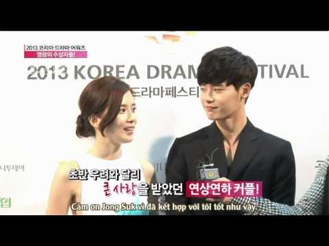 [Vietsub] Korean Drama Award - Lee Jong Suk and Lee Bo Young Interview