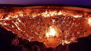 """The Real """"DOOR TO HELL"""": GIANT Hole in Desert Has Been on Fire For Over 40 YEARS"""