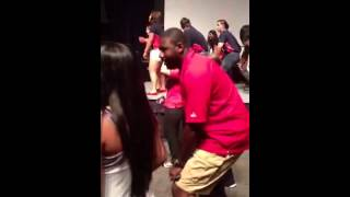 Howard Moore Cha Cha Slides with UIC Students