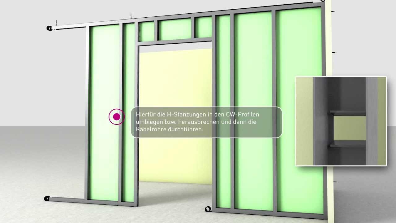 knauf st nderwand youtube. Black Bedroom Furniture Sets. Home Design Ideas